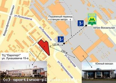 Схема проезда Европорт Киев
